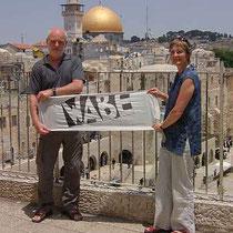 Reini und Sigrid in Jerusalem