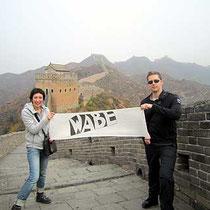 Sabine auf der Chinesischen Mauer
