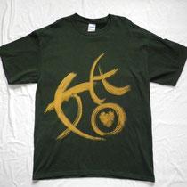 手書きTシャツ。