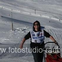 Gaby hat es fast geschafft, kurz vor dem Wildkogel-Gipfel!