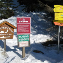 Am Eingang zum Trattenbachtal.