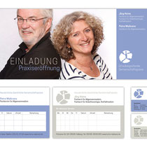 Auftragsarbeit *Geschäftsausstattung Hausärztliche Gemeinschaftspraxis* . 06/15