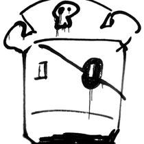 """""""capitan ice"""" acrilico su tela cm35x45 (2011) - esercizi: dalla serranda di una gelateria a jesolo."""