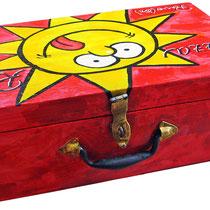 """""""La valigia della pizza"""" (Logo PizzaRio) cm35,5x35,17"""