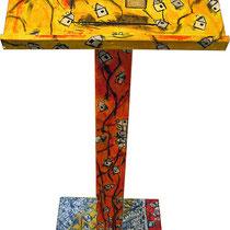 """""""leggio di Nino"""" acrilico su legno cm106x40"""