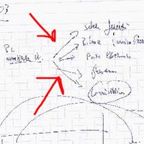 """""""I Graffi di Roberto"""" acrilico su tela cm40x40 - graffi rubati da un blocco notes e realizzati pensando ad un ufficio (2009)"""