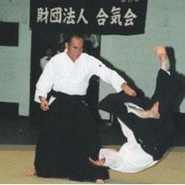 全日本合気道演武大会での師範演武 当時65歳