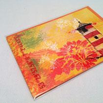 Karte und Umschlag in OPP-Folie verpackt