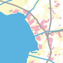 Ausschnitt aus einer Landkarte im Kundenauftrag