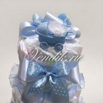 """© Торт из памперсов """"Малышу """" - подарок новорожденному мальчику"""