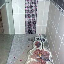 orchidées pour douche italienne,        1mx1.2m