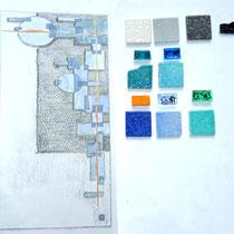 Création géométrique,       Esquisse et matières
