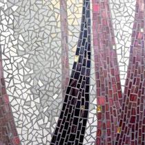 Mosaïque abstraite pour douche,        Détail