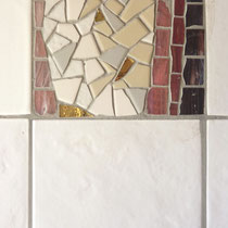 Mosaïque abstraite pour douche,        Carreaux assortis   12x12