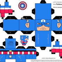 Plantilla recortable Capitán América