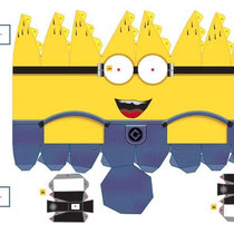 Plantilla recortable Minion