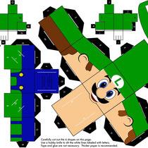 Plantilla recortable Luigi