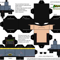 Plantilla recortable Batman