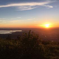 Sonnenaufgang mit Blick auf den Chiemsee