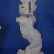 Quail Woman - clay - 24x12