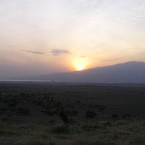 Sonnenaufgang am Oldonyo Lengai