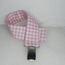 Nuggibändel aus Stoff: rosa kariert