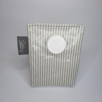 Kaugummibag grau gestreift