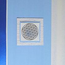 Nr. 2/ Blume des Lebens blau  CHF 250