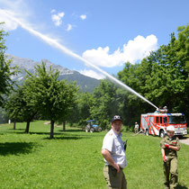 Abschnittskommandant Christian Faik zeigt sich erfreut über die hervorragende Leistung der Feuerwehrjugend