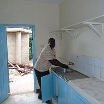 Im neuen Gebäude gibt es eine richtige Küche