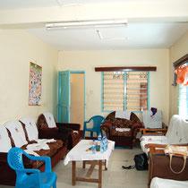 Der Aufenthaltsraum im neuen Waisenheim