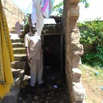 Zum Vergleich die alte Toilette