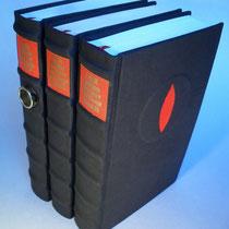 Der Herr der Ringe Erstausgaben in schwarzes Leder gebunden 1969 1970 N°535 I II III