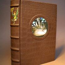 """Der kleine Hobbit von J.R.R. Tolkien in """"Drachenhaut"""" - Leder gebunden. N°530"""