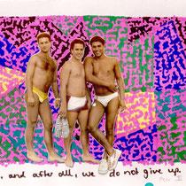 Peer III, Collage, 21 x 14,5 cm