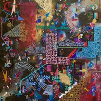 Stories Unwritten, Mixed Media on Canvas, 130 x  95 cm