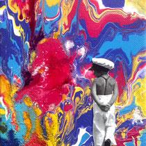 Wie der Vater..., 18 x 13 cm, Acrylics on Canvas. Sold.