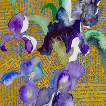 Irises for Lilly, Watercolor, 24 x 17 cm. Sold.