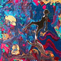 Apocalyptic swimmers II, Collage, 25 x 18 cm