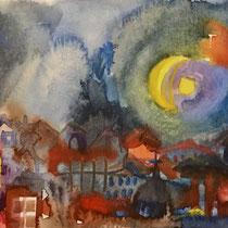 Cagliari II, Watercolors, 10,5 x 14,8 cm.