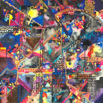 Secrets Untold, Watercolor and Acrylics on Paper, 74 x 55,5 cm