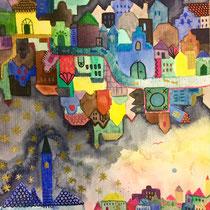 Leuven Mornings, Watercolor, 24 x 17 cm