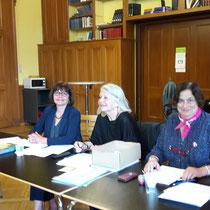 Vorstand von SVF-ADF Suisse (von links) Nadja Personeni, Josiane Greub Präsidentin, und Claudine Stähli