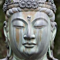 Bosatsu-Statue auf dem Gelände des Ninna-ji  仁和寺