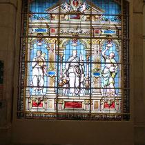 armature acier pour vitraux , travail effectué avec Mme Cécile Boël Maître verrier