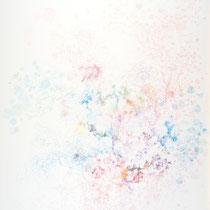 Kristin Finsterbusch, Z 9, Zeichnung, Farbstift, Bleistift, Tusche,  2014, 80 x 60 cm