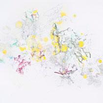Kristin Finsterbusch, Z 3, Zeichnung, Farbstift, Bleistift, Kreide, 2014, 70 x 50 cm