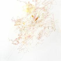 Kristin Finsterbusch, Z 0, Zeichnung, Bleistift, Farbstift, Tusche, 2014, 70 x 50 cm