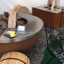 GEDO'16 feuerkugel noun mit feuergrillring u-rost und u-teppanyaki - einzigartig von stahl-art Rufer