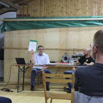 DEr 3. Vorsitzende Ansgar Brune in Aktion